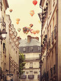 Flying Over Paris Poster di Irene Suchocki