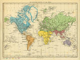 Map of the Zoological Regions of the World Posters