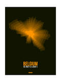 Belgium Radiant Map 2 Print by  NaxArt