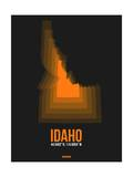 Idaho Radiant Map 6 Prints by  NaxArt