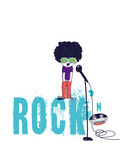 Rock and Roll Giclee Print by Laure Girardin-Vissian