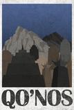 Qo'noS Retro Travel Poster Posters