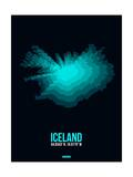Iceland Radiant Map 2 Prints by  NaxArt