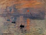 Impression, Soleil Levant Giclée-tryk af Claude Monet