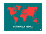 World Map Quote Poster 2 Prints by  NaxArt