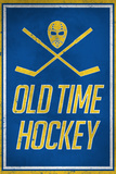 Old Time Hockey Sports Plastic Sign Wall Sign
