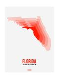 Florida Radiant Map 1 Posters by  NaxArt