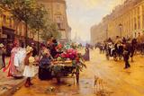 Rue Royale, Paris Giclee Print by Louis Marie de Shryver
