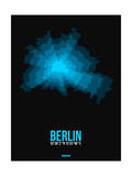 Berlin Radiant Map 1 Poster by  NaxArt