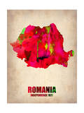Romania Watercolor Poster Print by  NaxArt