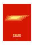 Tennessee Radiant Map 2 Print by  NaxArt