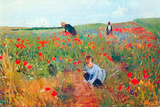 Mary Cassatt Poppy In The Field Plastic Sign Plastic Sign