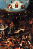 The Last Judgment Center Panel - Hieronymus Bosch Plastic Sign Wall Sign