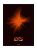 Athens Radiant Map 3 Print by  NaxArt