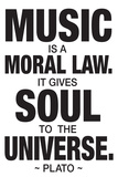 Plato Music Quote Plastic Sign Wall Sign