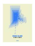 Rhode Island Radiant Map 2 Posters by  NaxArt