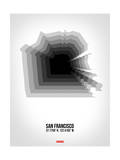 San Francisco Radiant Map 4 Posters by  NaxArt