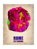 Rome Watercolor Map Prints by  NaxArt