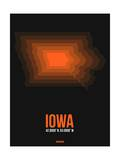 Iowa Radiant Map 6 Print by  NaxArt