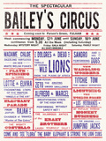 Baileys Circus Giclee Print by  The Vintage Collection
