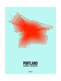Portland Radiant Map 1 Posters by  NaxArt
