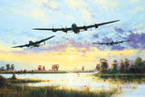 Dam Busters Setting Off (Avro Lancasters) Prints by Simon Atack