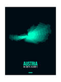 Austria Radiant Map 3 Poster by  NaxArt
