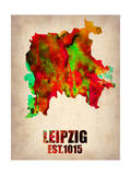 Leipzig Watercolor Poster Posters by  NaxArt