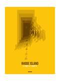 Rhode Island Radiant Map 3 Art by  NaxArt