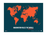World Map Quote Poster 1 Posters by  NaxArt