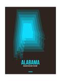 Alabama Radiant Map 6 Prints by  NaxArt