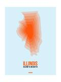 Illinois Radiant Map 2 Prints by  NaxArt