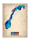 Norway Watercolor Poster Prints by  NaxArt