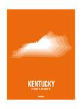 Kentucky Radiant Map 3 Prints by  NaxArt