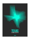 Texas Radiant Map 6 Poster by  NaxArt