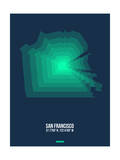 San Francisco Radiant Map 2 Print by  NaxArt