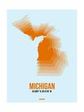 Michigan Radiant Map 2 Posters by  NaxArt