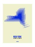New York Radiant Map 1 Poster by  NaxArt