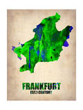 Frankfurt Watercolor Poster Posters by  NaxArt