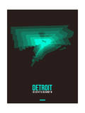 Detroit Radiant Map 4 Posters by  NaxArt