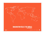 World Map Quote Poster 3 Posters by  NaxArt