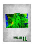 Wicker Park Illinois Poster by  NaxArt