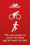 Triathlon Motivational Quote Plastic Sign Plastikschild