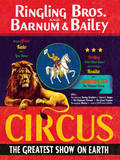 The Circus Comes to Town Poster by  The Vintage Collection