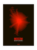 Moscow Radiant Map 1 Print by  NaxArt