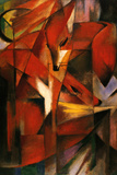 Franz Marc (Red Foxes) Plastic Sign Wall Sign