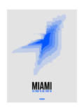 Miami Radiant Map 2 Poster by  NaxArt