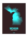Michigan Radiant Map 6 Poster by  NaxArt