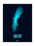 Sweden Radiant Map 2 Print by  NaxArt