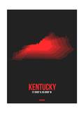Kentucky Radiant Map 4 Print by  NaxArt